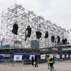 layer scaffolding truss, layer speaker truss system