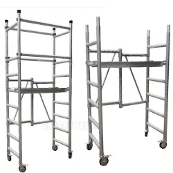 Durable aluminium foldable mobile scaffolding tower platform for sale