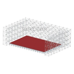 Layer scaffolding and quickly layer truss system made of steel truss for line array