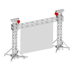 factory outlets led screen trussing