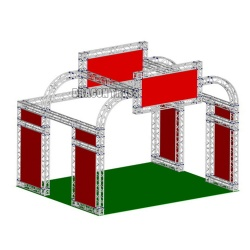 New product portable aluminum truss exhibition stand